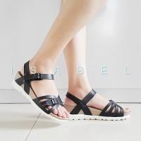 Jual Sandal Wanita Bali Platform Sandal - Black / Hitam 007  Murah