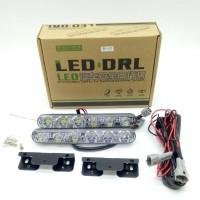 DRL LED model Fortuner terang 2 x 6 titik / Lampu LED DRL 6 Titik