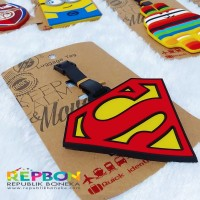 LUGGAGE TAG SUPERMAN TRAVEL TAG BAG TAG