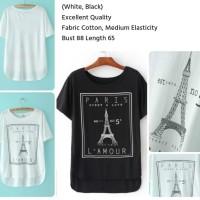 SHJT1170908131931 - Kaos Putih Paris - baju import - TERMURAH