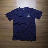 harga Kaos/tshirt Skate Stussy International Navy Premium Tokopedia.com