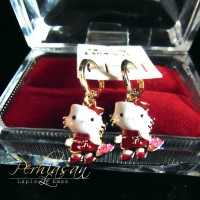 Anting Anak Hello Kitty Full Imut Lapis Emas 22 Karat Unyu Cantik Unik