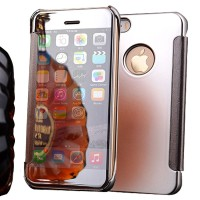 Jual Free Tempered Glass Mirror Cover Flip Case For Iphone 5/ 5S/5 S/SE Murah
