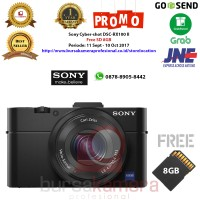 Sony DSC RX100 MARK II Hitam Kamera Pocket + Memory SD 8GB