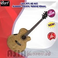 Gitar Akustik Elektrik Cort SFX AB NAT Natural Glossy