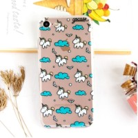 Caing Handphone Xiaomi 4A/4Prime BLUE CLOUD UNICORN CASE