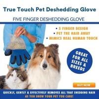 EH111 True Touch Sarung Tangan Pemijat Perapi Bulu Hewan Anjing Kucing