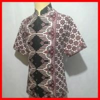 Jual Kemeja Batik Pria Baju Muslim Cowok Hem Batik Koko Batik Shanghai BK24 Murah