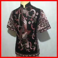 Jual Batik Pria Kerah Koko Shanghai Kemeja Baju Batik Baju Muslim Cowok BK1 Murah