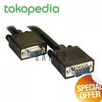Kabel VGA 15 Pin Male to Male Cable For LCD Monitor / Projector 1.5m