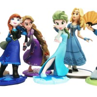 FIGURINE FROZEN ISI 6 (10CM) MURAH Mainan Anak Figure Princess Frozen