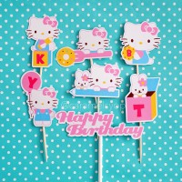 Hello Kitty & Bunny Cake Topper set / hiasan kue tart HK
