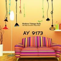 Wall stiker wall sticker Dinding Lampu Gantung Warna Warni