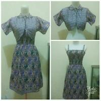Sale Promo Batik Halus Pekalongan Dress Rompi