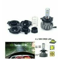 harga Lampu Utama Motor Mobil Led Cree 4mata 40watt Tokopedia.com