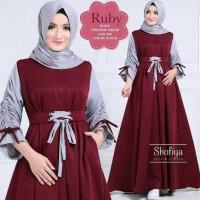 Baju Atasan Muslim Murah / Gamis Murah Ruby Dres Maroon