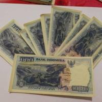 UANG KERTAS 1000 SERIBU GAMBAR DANAU TOBA / KOLEKSI INDONESIA