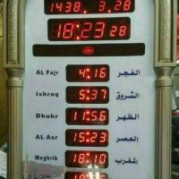 Jam Dinding Digital LED AZ-4009 Waktu Adzan Sholat