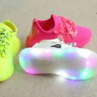Jual Sepatu kets  anak LED model tali Murah