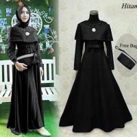 Jual 98118 Rena Hitam / Baju muslim / Hijab / Maxi / Dress Murah