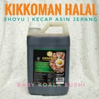 5 LITER KIKKOMAN HALAL | Shoyu Kecap Asin Ala Jepang | Japan Soy Sauce