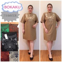 Jumbo Dress Katun Bordir Hamil baju wanita pesta kantor bigsize xxxl
