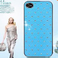 MURAH HARD CASE Bling Crystal Diamond for iPhone 4 4S 4G - LIGHT BLUE
