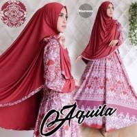 Gamis Syar i Modis Aquila Maroon Muslim Hijab Cantik Unik Baru