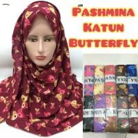 jilbab hijab kerudung pashmina katun butterfly kupu kupu-kupu rawis