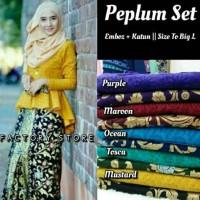 Jual Batik rok dan blus setelan Peplum set Murah