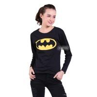 Jual Kaos Lengan Panjang Wanita Batman - Hitam Murah