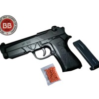 Mainan Pistol Plastik Kokang Air Soft Gun MP900