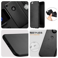 PREMIUM LEATHER CASE BLACK SOFTCASE WATERPROOF IPHONE 5/ 6 / 7 / 7PLUS