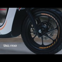 HONDA Scoopy Sporty Stylish - ORI Wheel Sticker / Stiker Velg