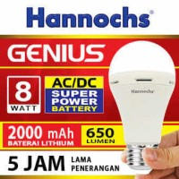 Lampu LED Hannochs Genius 8W (emergency light) - BUKAN PHILIPS