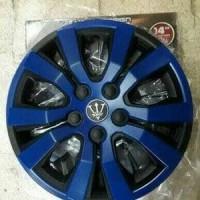 Dop Velg mobil Grand New Avanza 14 inch warna hitam kombinasi biru