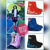 Jual Jas Hujan Sepatu Cosh Sarung Sepatu Cover Shoes Anti Air Cosh FunCover Murah