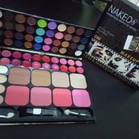 NYX Make Up Kit Dompet/ Eyeshadow Blush-On Bedak Lipstick Palette