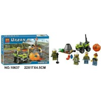 Lego Bela Urban 107pcs 10637 City Series Volcano Police Starter