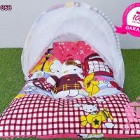 Jual Kasur Bayi Hello Kitty Lucu Set Kelambu Lipat   Termurah   Gratis  Murah