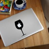 Harga decal sticker macbook apple gelas anggur wine glass logo stiker   Hargalu.com