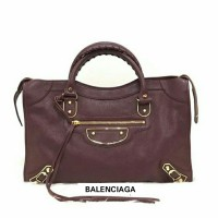 JUAL TAS BALENCIAGA CITY METALLIC EDGE 30 CM BORDEAUX GHW ORIGINAL