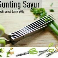 Jual Gunting sayur 5 lapis kitchen scissors 5 layer pisau potong dapur  Murah