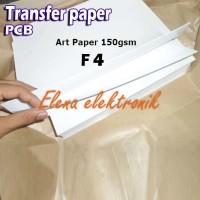 Art Paper Folio F4 150 gsm Kertas majalah untuk pembuatan pcb transfer