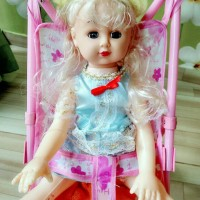 mainan Stroller dan Boneka Barbie