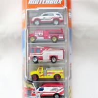 Matchbox Gift set 5 pack Gift pack EMT Fire Rescue - Pemadam kebakaran