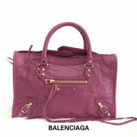 JUAL TAS BALENCIAGA CITY CLASSIC 30 CM ROSE DAHLIA GHW ORIGINAL