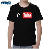 Kaos Youtube Anak - Youtube Logo Original - By Crion