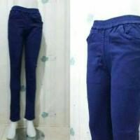 Celana jeans wanita JUMBO pinggang karet