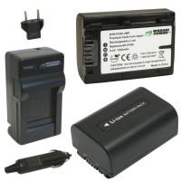 Wasabi Power Battery Kit for Sony NP-FV30, NP-FV40, NP-FV50